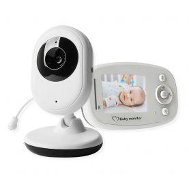 Bébiőr BS-W214 Vezeték nélküli,  2.4″ Képernyővel, Audio-Video megfigyelés, Hőmérséklet-megfigyelés, Kétirányú kommunikáció, Altatódalok, Beépített akkumulátor