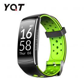 Intelligens fitnesz karkötő YQT Q8 Pulzusmérő funkció, Vérnyomásmérő funkció, Alvásfigyelő, Lépésszámláló, Értesítésekkel, Fekete – Zöld