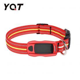 Közepes és nagy kutyák számára nyomkövető nyakörv YQT-Q1, GPS Nyomkövető, Útvonal-előzmények, Biztonsági kerület, Figyelőhívás, Zseblámpa, Piros
