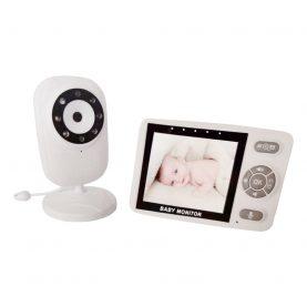 Bébiőr BS-835P, 3,5″, Vezeték nélküli, Szobahőmérséklet figyelő, Kétirányú kommunikáció, Alató dalok