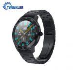 Okosóra Twinkler TKY-SW10 Pulzusmérő funkció, Vérnyomásmérő funkcióval, EKG, Híváselőzmények, Naptár, Bluetooth-szos hívás, Fém szij, Fekete