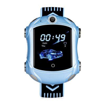 Okosóra gyerekeknek Wonlex KT14, Szuper autó, SIM-kártya, 4G, IP54 vízcsepp álló, Videohívás, Kék