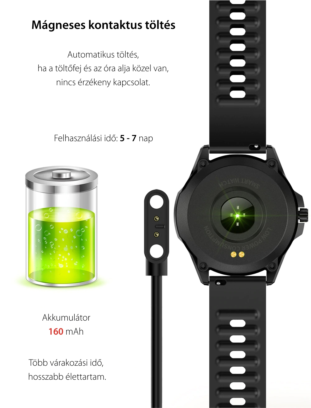 Okosóra Twinkler TKY-Y28, Pulzusmérő funkció, Vízállóság IP54, Lépésszámláló, Alvásminőség, Fekete