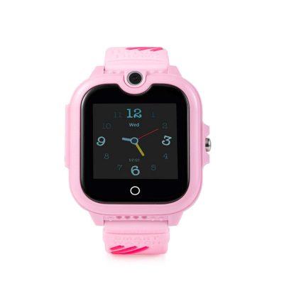 Okosóra gyerekeknek Wonlex KT13, SIM kártya foglalat, 4G, Vízállóság IP54, Videohívás, SOS Gomb, Kétirányú kommunikáció, GPS Nyomkövető, Rózsaszín
