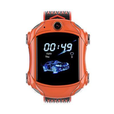 Okosóra gyerekeknek Wonlex KT14, Szuper autó, SIM-kártya, 4G, IP54 vízcsepp álló, Videohívás, Narancsszín