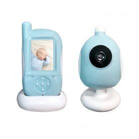 Bébiőr BS-A920 Vezeték nélküli, Audio-Video megfigyelés, Hőmérséklet-figyelés, Ételidő, Kétirányú kommunikáció, Altatódalok, Éjszakai látás, Világoskék –  Fehér