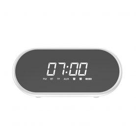 Hordozható Bluetooth Hangszóró Baseus Encok E09, Fehér, Vezeték nélküli, Multifunkciós óra, Riasztó