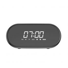 Hordozható Bluetooth Hangszóró Baseus Encok E09, Fekete, Vezeték nélküli, Multifunkciós óra, Riasztó