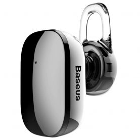 Fülhallgató Baseus Encok A02 Mini Bluetooth, Bluetooth 4.1, 60 mAh akkumulátor, 10 m kommunikációs távolság, Szürke