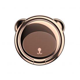Telefon tartó Baseus Ring Bear, Vastagság 3 mm, Két irányban forgatható, Barna