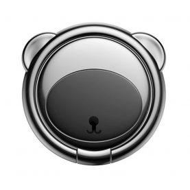 Telefon tartó Baseus Ring Bear, Vastagság 3 mm, Két irányban forgatható, Fekete