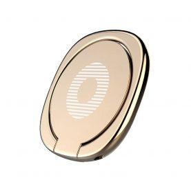 Mágneses gyűrűtartó telefonhoz / táblagéphez, Baseus Privity Ring, 180 fokos elforgatással, Arany