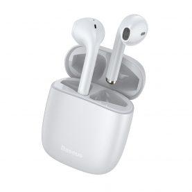 Fülhallgató Encok W04 Pro Baseus, Vezeték nélküli, Bluetooth 5.0, 400 mAh akkumulátor, Fehér