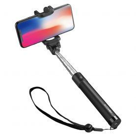 Szelfibot BlitzWolf BW-BS6, Fekete, Mobiltelefonokhoz, Kihúzható, Bluetooth 3.0
