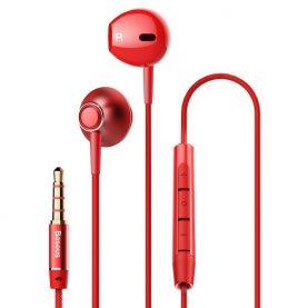 Fülhallgató Baseus Encok H06, Piros, 3,5 mm-es jack, NGH06-09