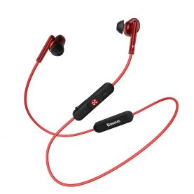 Fülhallgató Baseus Encok S30, Piros, Bluetooth 5.0, 100 mAh akkumulátor