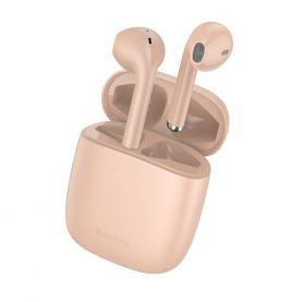 Fülhallgató Encok W04 Pro Baseus, Vezeték nélküli, Bluetooth 5.0, 400 mAh akkumulátor, Rózsaszín