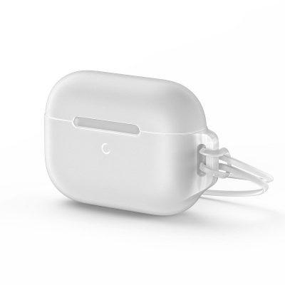 """Apple AirPods Pro védőtok, """"Let's go Jelly Lanyard"""", Baseus, Fehér, Szilikon"""