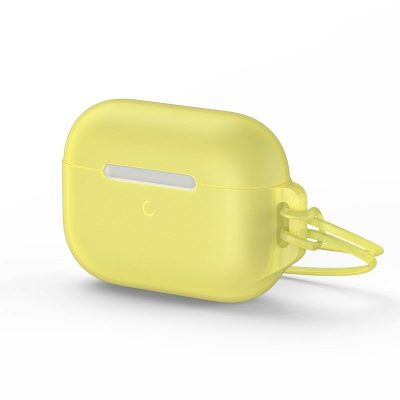 """Apple AirPods Pro védőtok, """"Let's go Jelly Lanyard"""", Baseus, Sárga, Szilikon"""