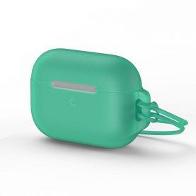 "Apple AirPods Pro védőtok, ""Let's go Jelly Lanyard"", Baseus, Zöld, Szilikon"