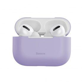 Apple AirPods Pro Védőtok, Ultra vékony, Szilikagél, Lila