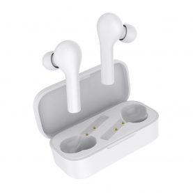 Fülhallgató QCY T5 TWS, Fehér, Wireless, Bluetooth 5.0, Érintésvezérlés, 380 mAh-s akkumulátor