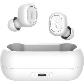 Fülhallgató QCY T1 TWS, Fehér, Wireless, Bluetooth 5.0, 380 mAh akkumulátor