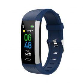 Intelligens fitnesz karkötő TKY-S03 Pulzusmérő, Vérnyomás, Oxigénszint, Lépésszámláló, Értesítések, Kék