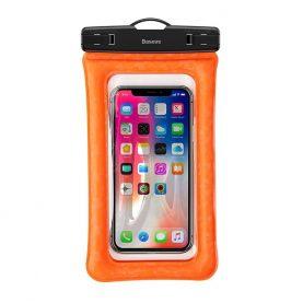 Univerzális Vízálló Telefontok, Baseus Légpárna, 6,1″, Narancssárga