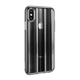 Apple iPhone X / XS Védőtok, Aurora Base, Átlátszó – Fekete