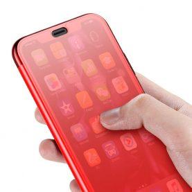 Apple Iphone XS Max Baseus Védőtok, Érinthető, 6,5″, Piros
