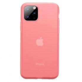 Apple iPhone 11 Pro Védőtok, Baseus Jelly Liquid, 5,8″, Piros/ Átlátszó