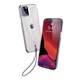 Apple iPhone 11 Pro Védőtok Baseus, 5.8″, Átlátszó / Fehér