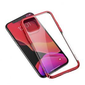 Apple iPhone 11 Pro Baseus Védőtok, Csillogó, 5,8″, Piros/ Átlátszó