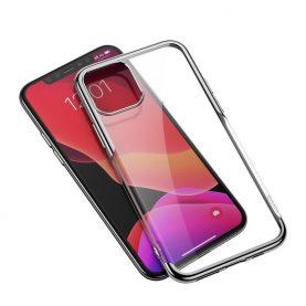 Apple Iphone 11 Pro Max, Baseus Fényes Védőtok, 6,5″, Átlátszó / Ezüst