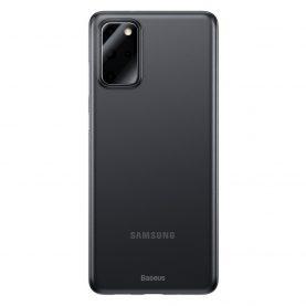 Samsung Galaxy S20+ Védőtok, Baseus Wing Case, Vastagsága 0,4 mm, Füstös