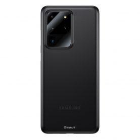 Samsung Galaxy S20 Ultra 5G Védőtok, Baseus Wing Case, Vastagsága 0,4 mm, Füstös