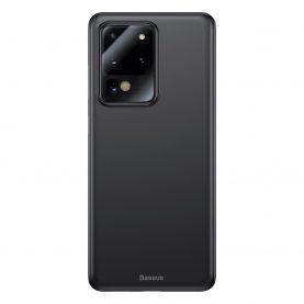 Samsung Galaxy S20 Ultra 5G Védőtok, Baseus Wing Case, Vastagsága 0,4 mm, Fekete