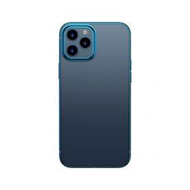 Baseus Védőtok Apple iPhone 12 / 12 Pro, Fényes Tok, 6,1″, Átlátszó / Kék