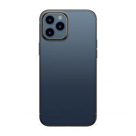 Baseus Védőtok Apple iPhone 12 / 12 Pro, Fényes Tok, 6,1″, Átlátszó / Fekete