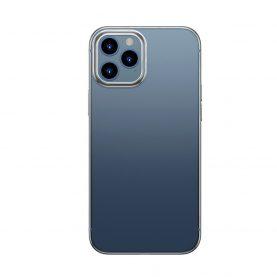 Baseus Védőtok Apple iPhone 12 / 12 Pro, Fényes Tok, 6,1″, Átlátszó / Ezüst