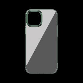Baseus Védőtok Apple iPhone 12/12 Pro, Csillogó Alap, 6,1″, Zöld / Átlátszó