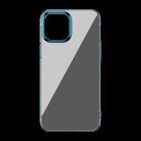Baseus Védőtok Apple iPhone 12 Pro Max, Csillogó Alap, 6,7″, Átlátszó / Kék