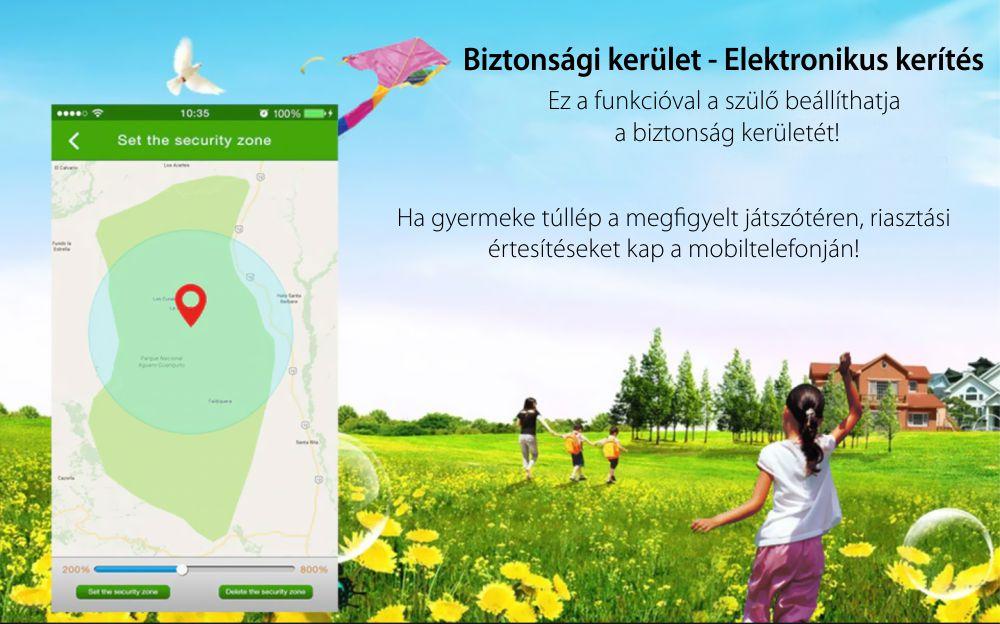 Okosóra gyerekeknek Motto TD 01, Zseblámpával, GPS helymeghatározás, Kétirányú kommunikáció, Útvonalelőzmények, Lépésszámláló, Rózsaszín