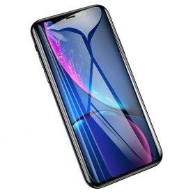 Képernyővédő Üvegfólia, Apple iPhone XR, fekete keret, 0,2 mm