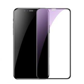 Képernyővédő üvegfólia Apple iPhone XR, Átlátszó kék, 0,2 mm
