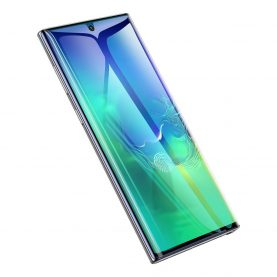 2 Db Üvegfólia Csomag Samsung Galaxy Note 10+, Fekete keret, 0,2 mm
