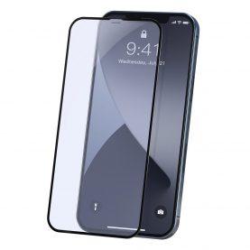 2 Db Üvegfólia Csomag iPhone 12 Mini Készülékhez, Fekete szélek, Vastagság 0,23 mm