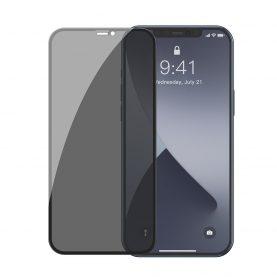2 Db Üvegfólia Csomag iPhone 12 Mini, Privacy Glass, Füstös árnyalat, Vastagság 0,3 mm