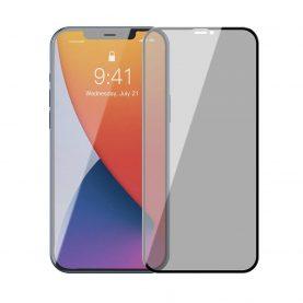 2 Db Üvegfólia Csomag iPhone 12/12 Pro Készülékhez, Privacy Glass, Füstös árnyalat, Vastagság 0,23 mm